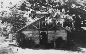 Old photo of Hale Paahao from inside