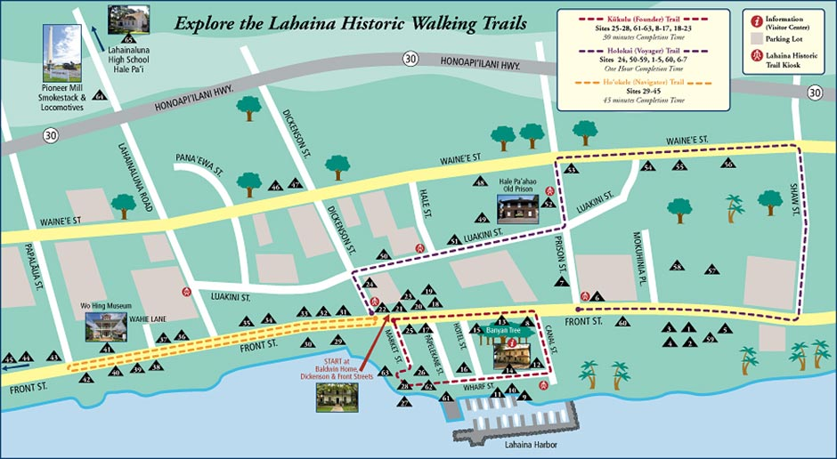 Lahaina Historic Trail Map