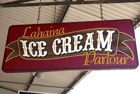 Lahaina Ice Cream Sign