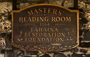Masters' Reading Room Plaque