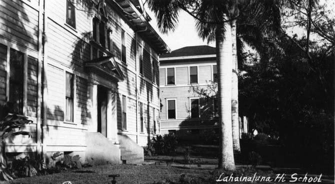 Lahainaluna High School, Maui 1940s
