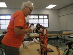 Lahaina historical artifact cleaning workshop - dolls