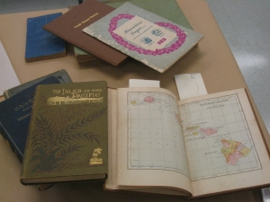 Lahaina historical artifact cleaning workshop - books