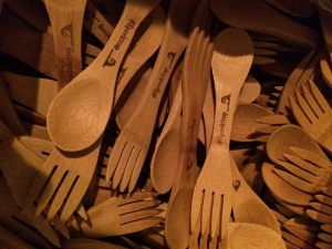 It's a spoon, a fork, bamboo Spork