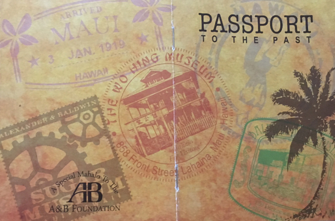 Passport to the Past museum booklet