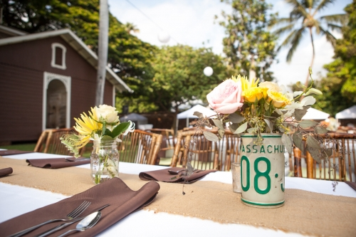 Old Lahaina Prison wedding table decor
