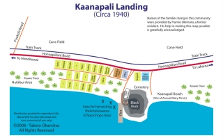 Kaanapali Landing Plantation Camp Map