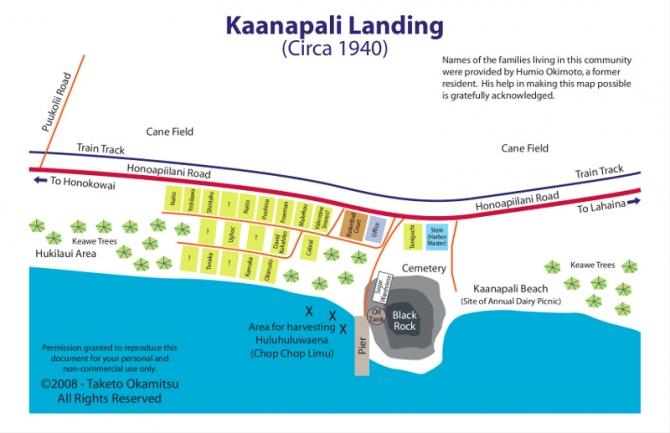 Kaanapali Landing Plantation Camp Map