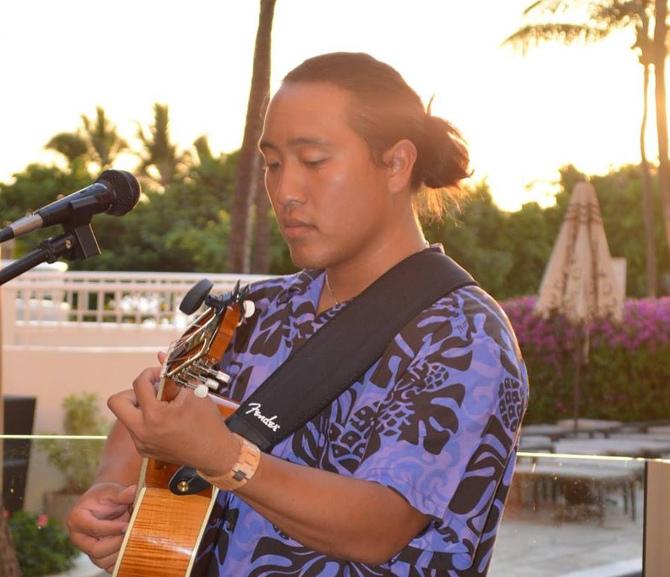 Hawaiian falsetto musician Dane Fujiwara