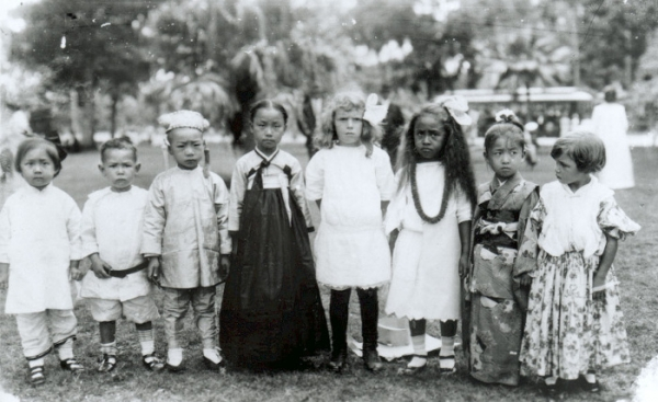 Hawaii's multi cultural children