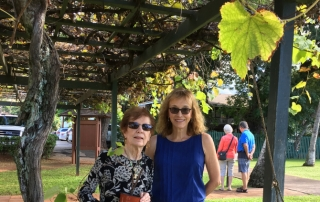 Doris Christenson and Pam McCabe at Baldwin Home
