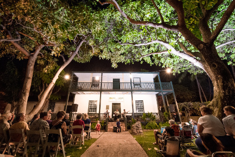 Hawaiian Music Series concert in front of Baldwin Home Museum