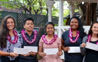 2017 Lahainaluna High School Senior scholarship recipients