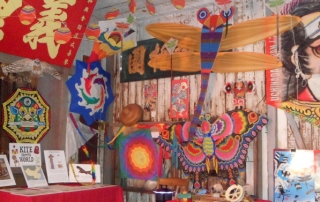 A wide world of kites on display at Wo Hing Museum's Cookhouse